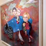 160 cm x 132 cm framed canvas