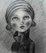 Anne Frank pencil drawing