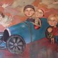 etorres dream acrylic on canvas 162 x130 framed