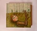 lazy daisy canvas 30 x30 cms framed £425