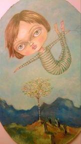flying around the silver birch
